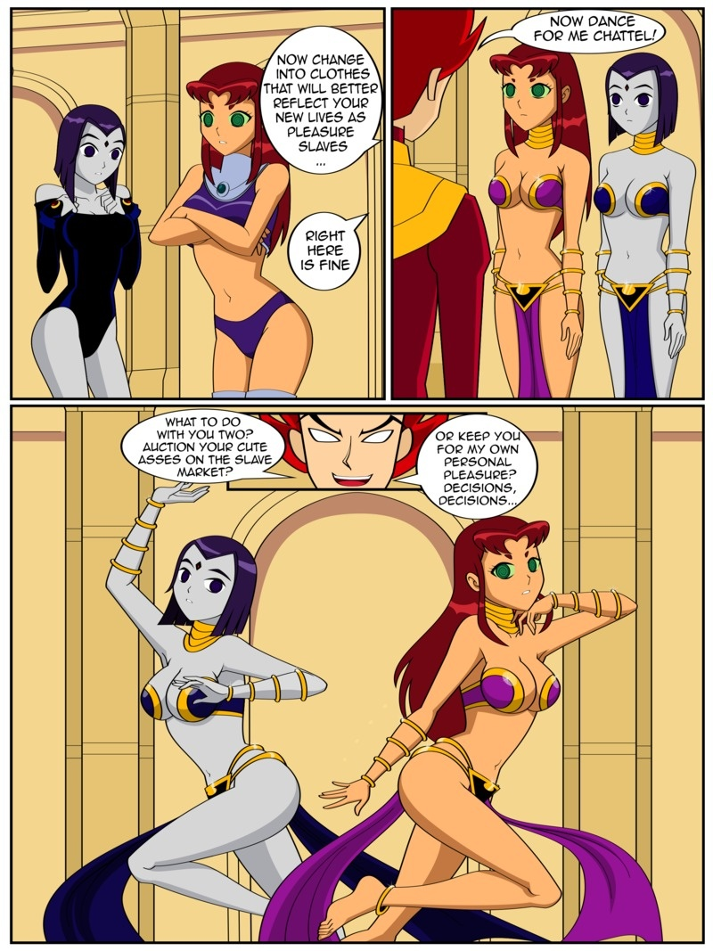Nude Teen Titans in heat