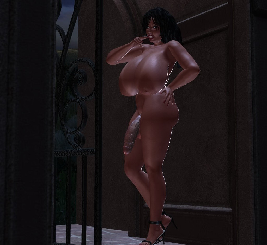 massive tits futanari